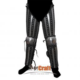 Brigandine-and-splint leg protection