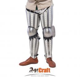Brigandine-splint leg protection white color