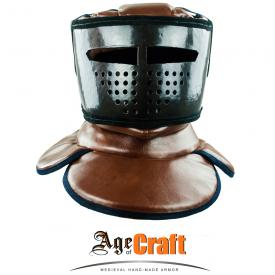 Soft helmet with gorget type 2