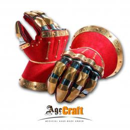 Hourglass gauntlets Red velvet