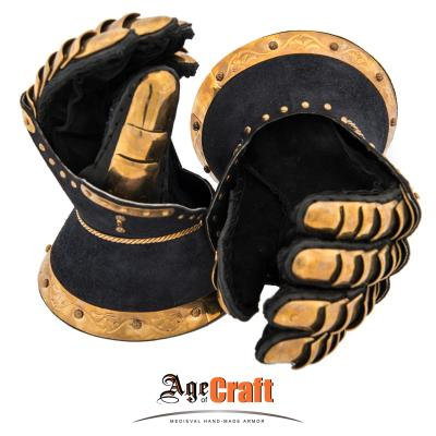 "Gauntlets from Ripon Cathedral ""Blue velvet"""